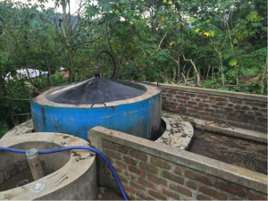 Here is one of the five Biogas plants at SHOLAI School